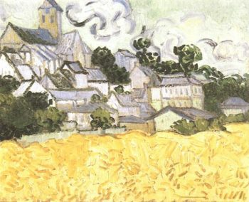 View of Auvers with Church | Vincent Van Gogh | oil painting