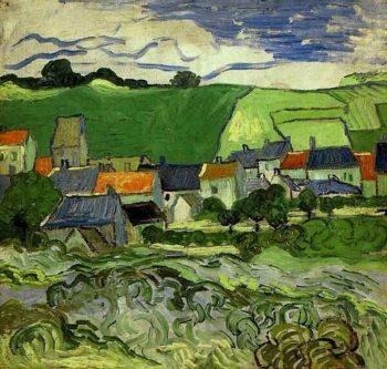 View of Auvers | Vincent Van Gogh | oil painting