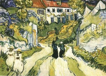 Village Street and Steps in Auvers with Figures | Vincent Van Gogh | oil painting