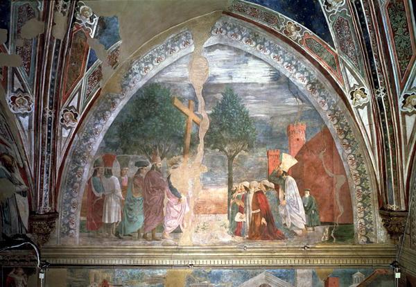 Exaltation of the Cross Heraclius   Piero della Francesca   oil painting