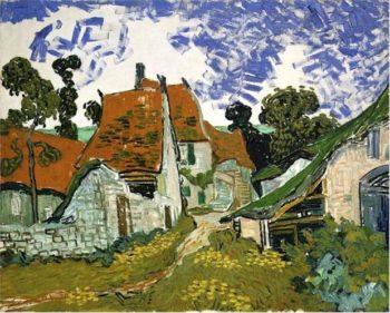 Village Street in Auvers | Vincent Van Gogh | oil painting