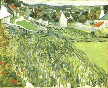 Vineyards with a View of Auvers | Vincent Van Gogh | oil painting