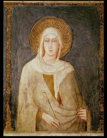 Five Saints detail of St Clare | Simone Martini | oil painting