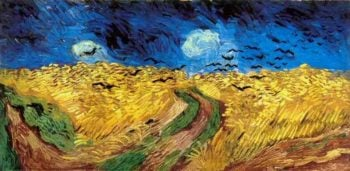 Wheat Field with Crows version 2 | Vincent Van Gogh | oil painting
