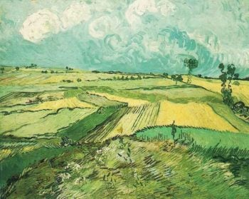 Wheat Fields at Auvers Under Clouded Sky | Vincent Van Gogh | oil painting