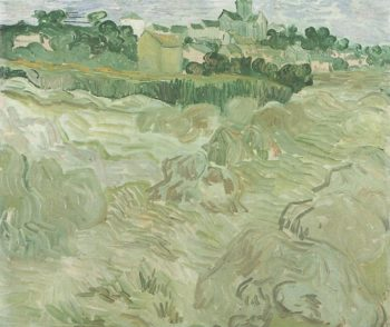 Wheat Fields with Auvers in the Background | Vincent Van Gogh | oil painting
