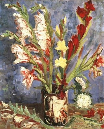 Vase with Gladioli | Vincent Van Gogh | oil painting