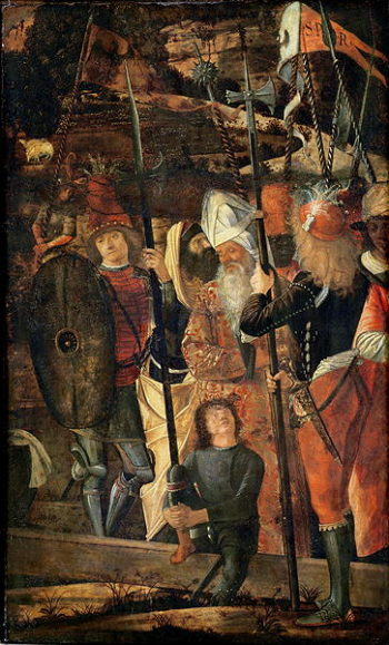 Group of Orientals Jews and Soldiers 1493 95 | Vittore Carpaccio | oil painting