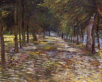 Avenue in Voyer Argenson Park at Asnieres | Vincent Van Gogh | oil painting