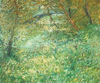 Banks of the Seine with Pont de Clichy in the Spring | Vincent Van Gogh | oil painting