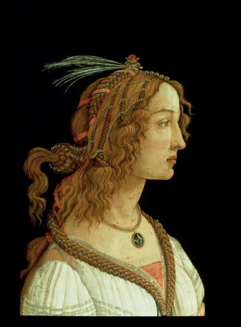 Portrait of a Young Woman 1485   Sandro Botticelli   oil painting
