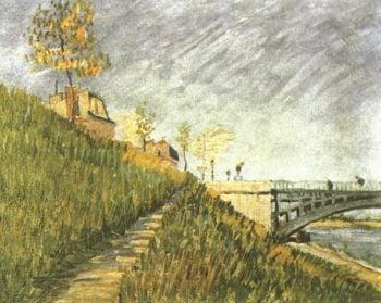 Banks of the Seine with Pont de Clichy | Vincent Van Gogh | oil painting