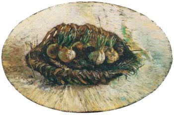 Basket of Sprouting Bulbs | Vincent Van Gogh | oil painting