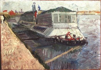 Bathing Float on the Seine at Asnieres | Vincent Van Gogh | oil painting