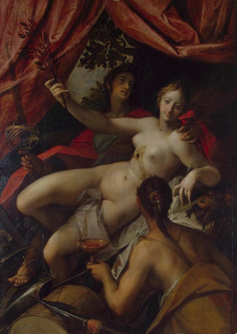 Allegory of Peace Art and Abundance   Aachen Hans van   oil painting