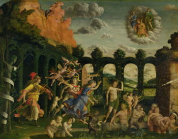 Minerva Chasing the Vices from the Garden of Virtue | Andrea Mantegna | oil painting