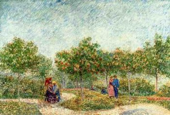 Couples in the Voyer d'Argenson Park at Asnieres | Vincent Van Gogh | oil painting