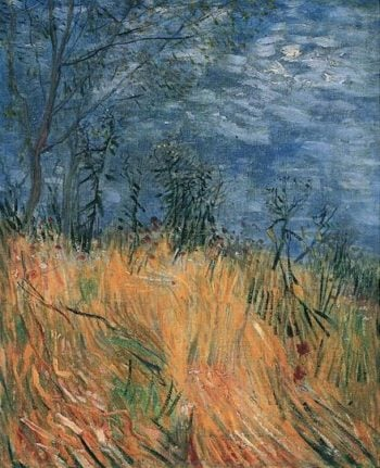 Edge of a Wheatfield with Poppies | Vincent Van Gogh | oil painting