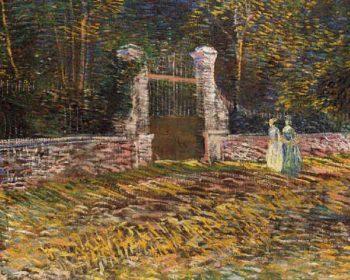 Entrance of Voyer Argenson Park at Asniares | Vincent Van Gogh | oil painting
