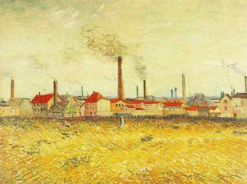 Factories at Asnieres Seen from the Quai de Clichy | Vincent Van Gogh | oil painting