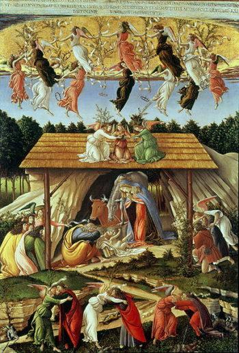 Mystic Nativity 1500   Sandro Botticelli   oil painting