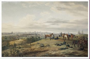 In the Environs of Viazma on 28 August 1812 | Adam Albrecht | oil painting