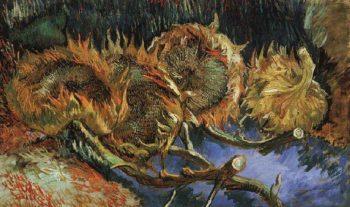 Four Cut Sunflowers | Vincent Van Gogh | oil painting