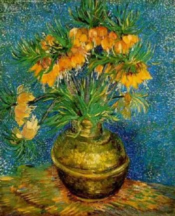 Fritillaries in a Copper Vase | Vincent Van Gogh | oil painting