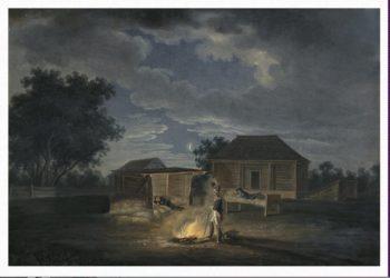 Veliki Solezhniki. Headquarters. Night of 9 July 1812 | Adam Albrecht | oil painting