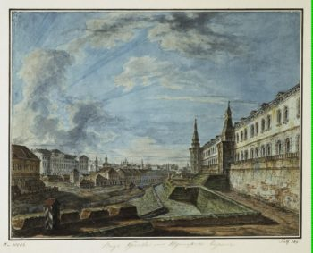 View of Moscow from the Trinity Gates in the Kremlin (View of Moscow University) | Fiodor Alexeyev | oil painting