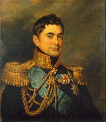 Portrait of Pyotr M. Volkonsky (1776-1852) (replica of the 1823 portrait)   George Dawe   oil painting