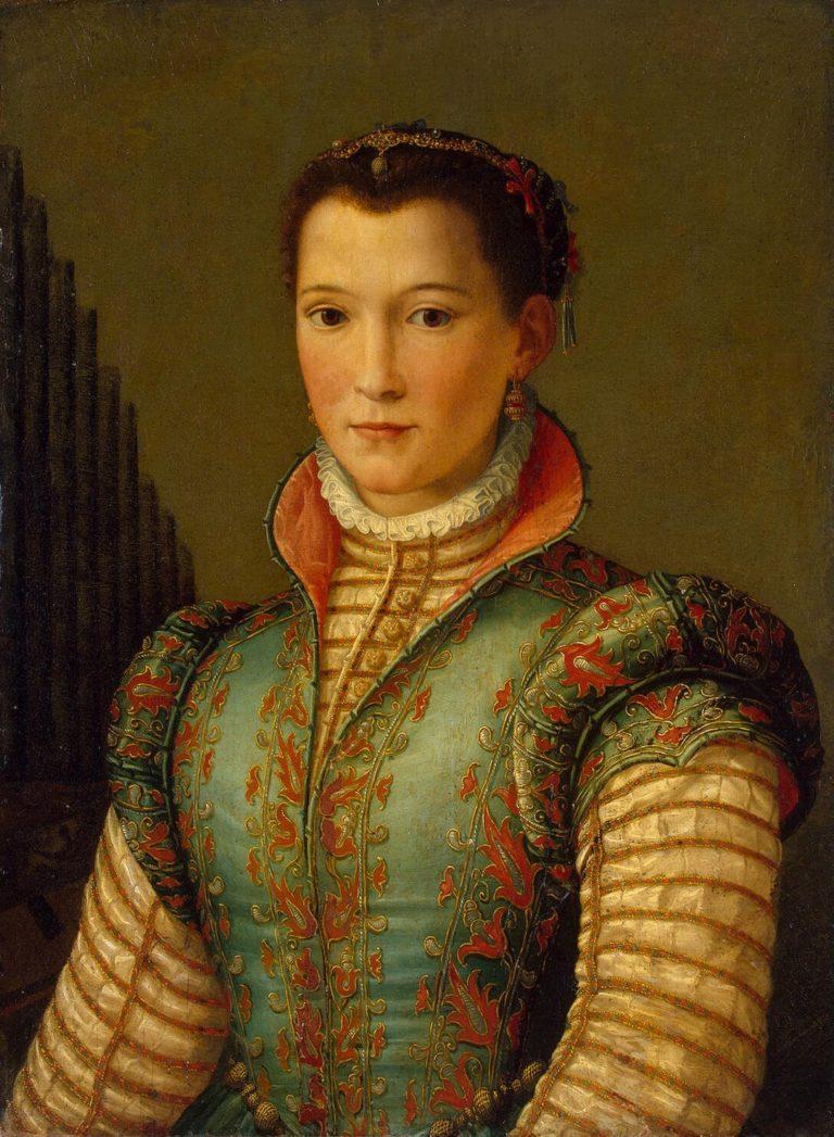 Portrait of Eleonora (Dinora) da Toledo | Allori Alessandro | oil painting