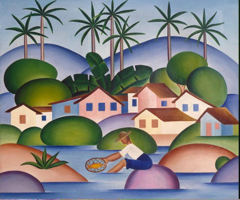 An Angler   Amaral Tarsila do   oil painting