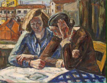 Two Women by the Window | Amelin Albin | oil painting
