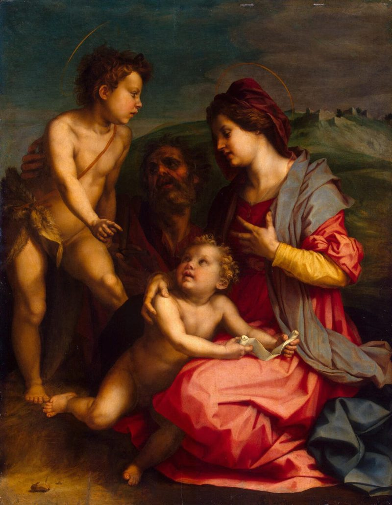 Holy Family with St John the Baptist | Andrea del Sarto | oil painting