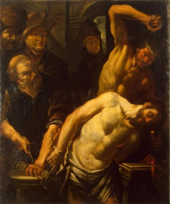 Flagellation of Christ | Assereto Gioacchino | oil painting