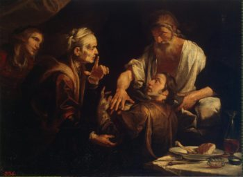 Isaac Blessing Jacob | Assereto Gioacchino | oil painting