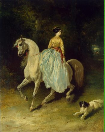 Horsewoman (Amazon) | De Dreux Alfred | oil painting