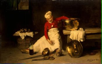 Young Cook in the Kitchen | Bail Joseph | oil painting