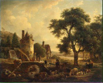 Water-mill   De Marne Jean-Louis   oil painting