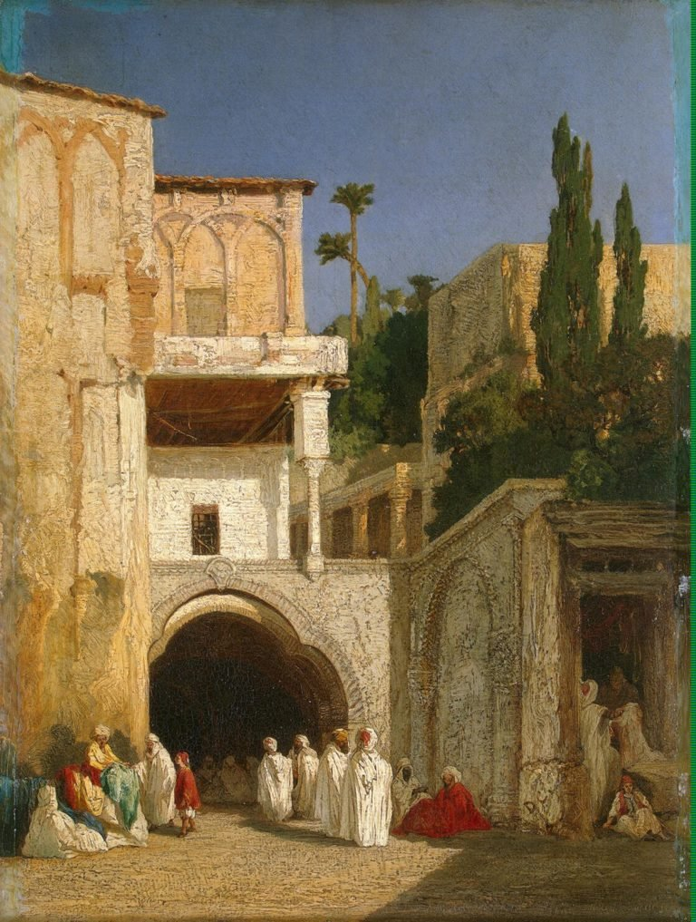 Before a Mosque (Cairo) | Decamps Alexandre-Gabriel | oil painting