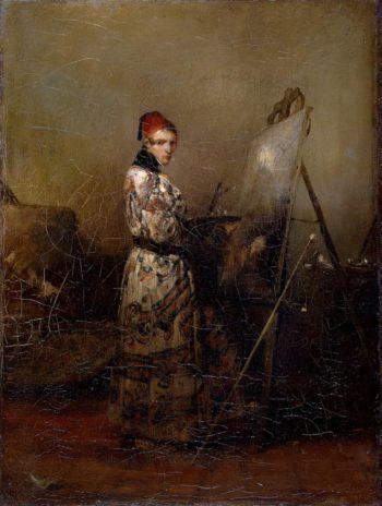 Self-Portrait   Decamps Alexandre-Gabriel   oil painting