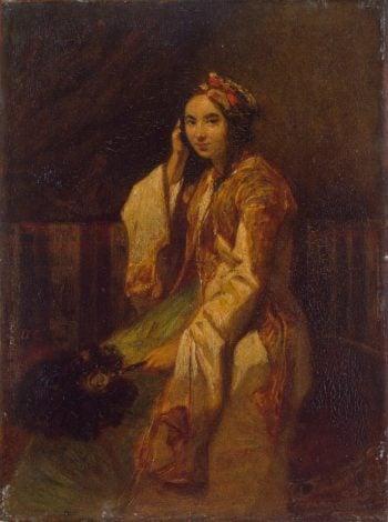 Woman in Oriental Dress   Decamps Alexandre-Gabriel   oil painting
