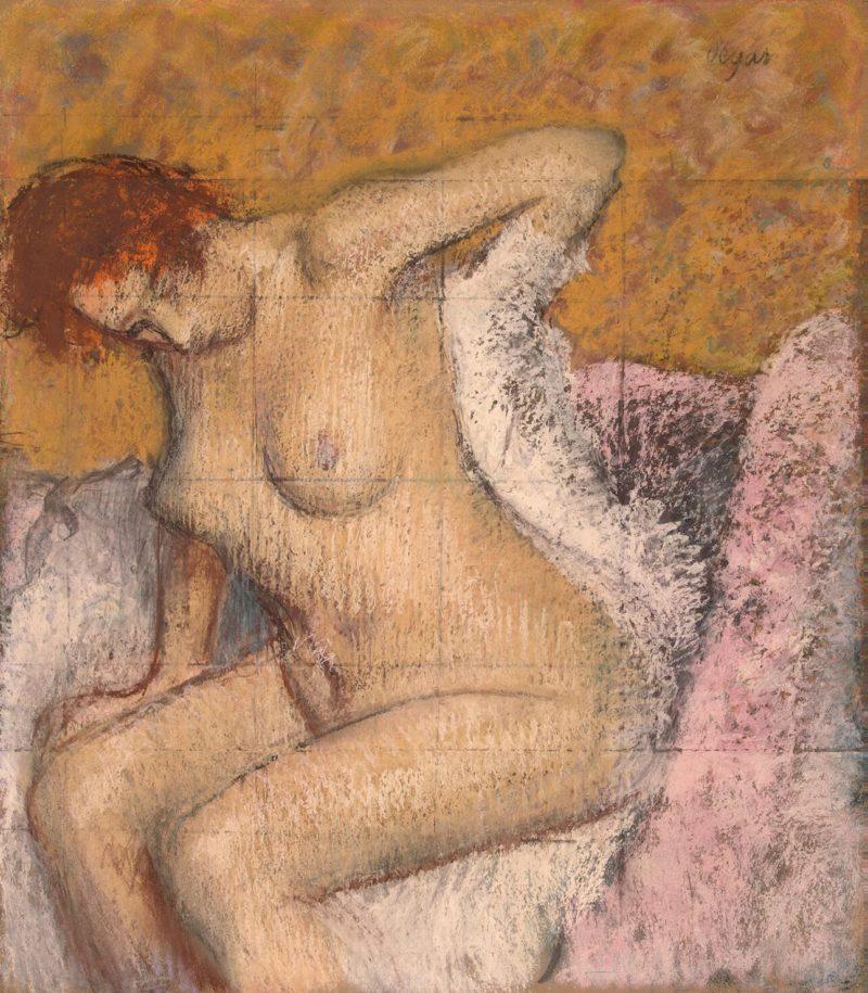 After the Bath | Degas Edgar | oil painting