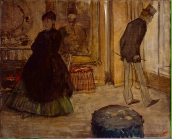 Interior with Two Figures | Degas Edgar | oil painting