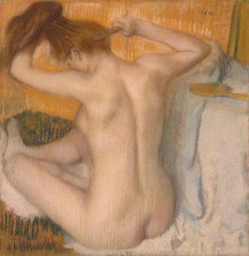 Woman Combing her Hair | Degas Edgar | oil painting