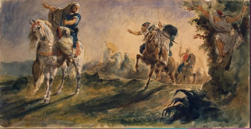 Arab Riders on Scouting Mission - G | Delacroix Eugene | oil painting