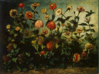 Flowers   Delacroix Eugene   oil painting