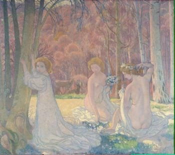 Figures in a Spring Landscape (Sacred Grove) | Denis Maurice | oil painting