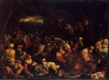 Miracle of the Loaves and Fishes   Bassano Francesco (Francesco da Ponte)   oil painting